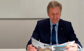 Christian Wulff liest im neuen trend. (c) Stefan Mey